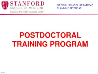 POSTDOCTORAL TRAINING PROGRAM
