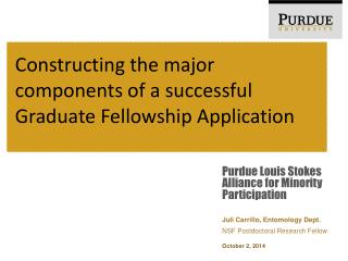 Constructing the major components of a successful Graduate Fellowship Application