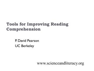 Tools for Improving Reading Comprehension