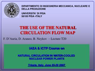 THE  USE OF THE NATURAL CIRCULATION FLOW MAP