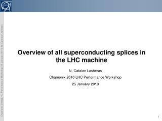 Overview of all superconducting splices in the LHC machine