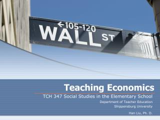Teaching Economics