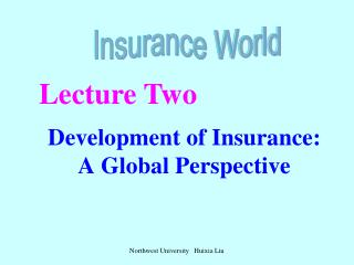 Development of Insurance: A Global Perspective