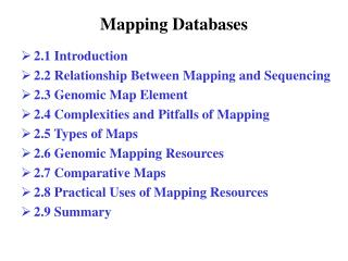 Mapping Databases