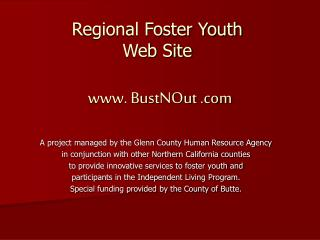 Regional Foster Youth  Web Site