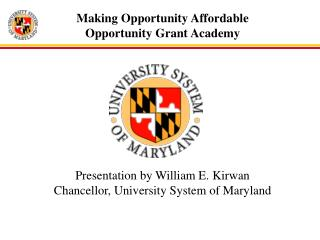 Making Opportunity Affordable Opportunity Grant Academy