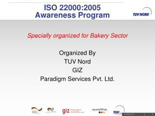 ISO 22000:2005 Awareness Program
