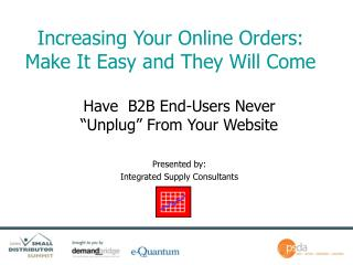 Increasing Your Online Orders: Make It Easy and They Will Come