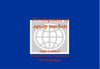 Development of equity markets