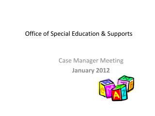 Office of Special Education & Supports