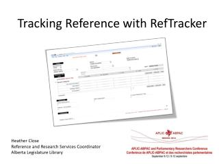 Tracking Reference with  RefTracker