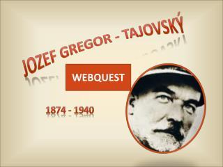 Jozef Gregor -  Tajovský