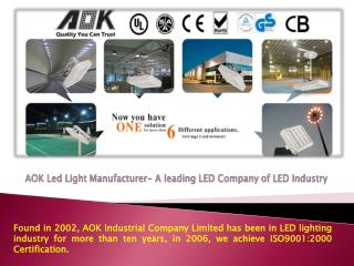 AOK led light manufacturer- A leading LED Company of light i