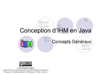Conception d'IHM en Java