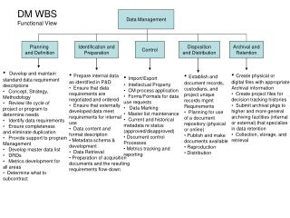 DM WBS Functional View