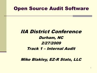 Open Source Audit Software