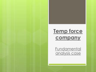 Temp force company