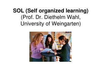 SOL (Self organized learning)  (Prof. Dr. Diethelm Wahl, University of Weingarten)