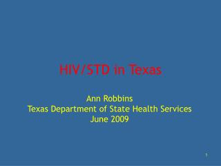 HIV/STD in Texas