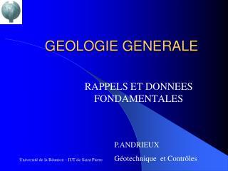 GEOLOGIE GENERALE