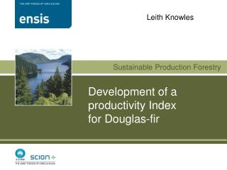 Development of a  productivity Index  for Douglas-fir