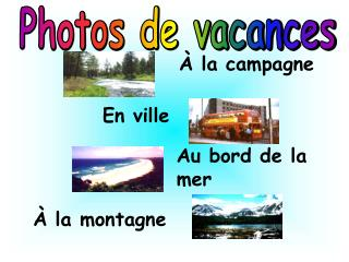 Photos de vacances