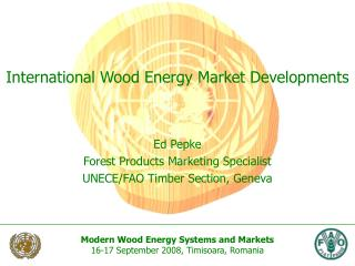International Wood Energy Market Developments