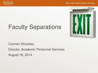 Faculty Separations