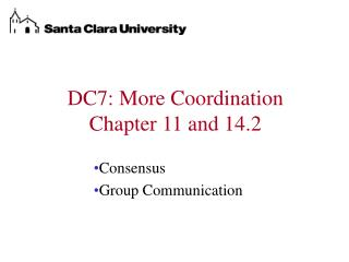 DC7: More Coordination Chapter 11 and 14.2