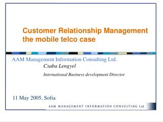 Customer Relationship Management the mobile telco case