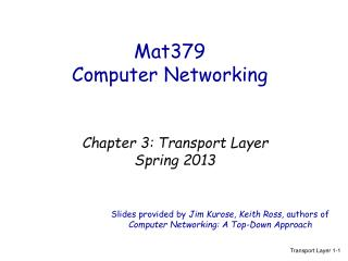 Mat379  Computer Networking
