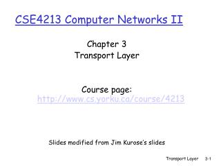 CSE4213 Computer Networks II