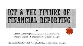 Ict  & The future of financial reporting