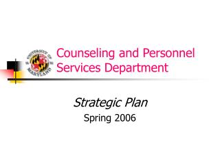 Counseling and Personnel         Services Department