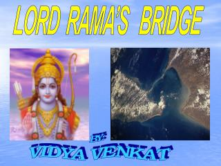 LORD  RAMA'S   BRIDGE