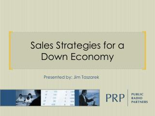 Sales Strategies for a Down Economy