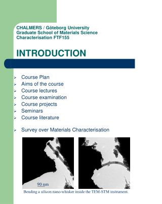 Course Plan Aims of the course Course lectures Course examination Course projects Seminars