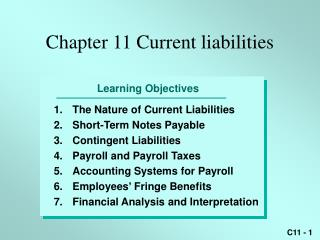 Chapter 11 Current liabilities
