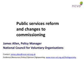 Public services reform and changes to commissioning