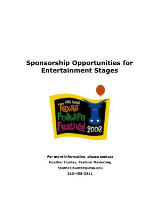 Sponsorship Opportunities for Entertainment Stages