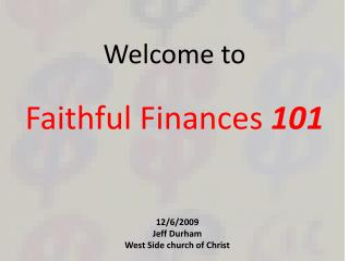 Faithful Finances  101