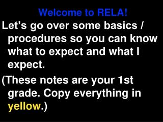 Welcome to RELA!