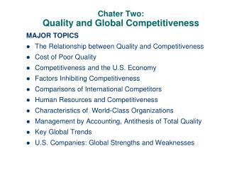 Chater Two: Quality and Global Competitiveness