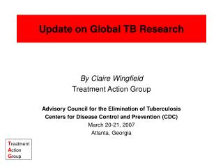 Update on Global TB Research