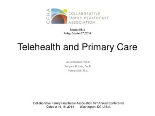 Telehealth and Primary Care