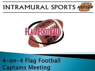 4-on-4 Flag Football Captains Meeting