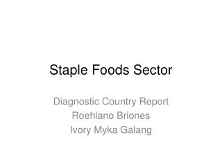 Staple Foods Sector