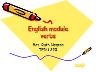 English module verbs