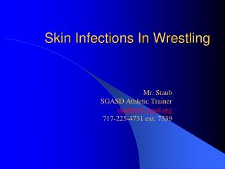 Skin Infections In Wrestling