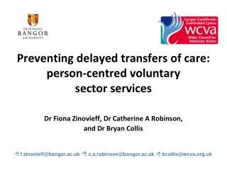 Preventing delayed transfers of care: person-centred voluntary  sector services